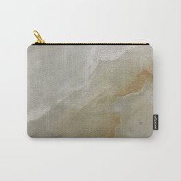 Soft Gold and Creamy Marble Pattern Carry-All Pouch