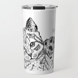 Kitten high five Travel Mug
