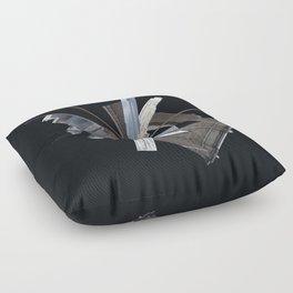 Brooklyn Bridge Gone Wild in Spacetime Floor Pillow