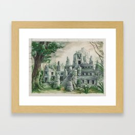 "L5R card illustration ""Claiming the Ruins"" Framed Art Print"