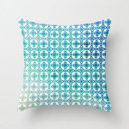 Bohemian Fresh Teal Summer Pattern Throw Pillow