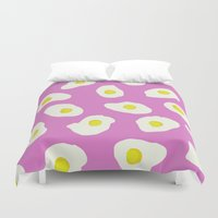 eggs Duvet Covers featuring Eggs by AshlynDrake