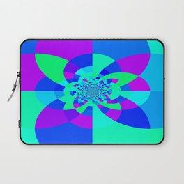Orchid Aqua Turquoise Kaleidoscope Laptop Sleeve