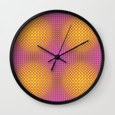 Vasarely style Wall Clock