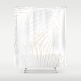 Palms White & Nude Shower Curtain