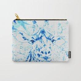 Blue Giraffe Carry-All Pouch