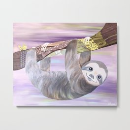 Swingin' Sloth - Friends of the Earth Metal Print