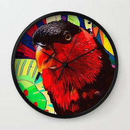 Sweet Parakeet Wall Clock