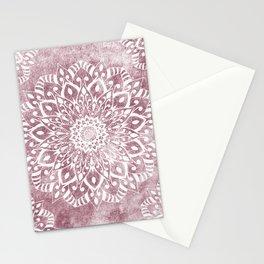 ROSE PINK MANDALAS FOR JULY Stationery Cards