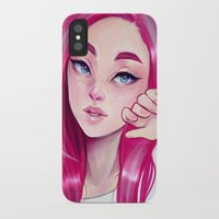 cyarin iPhone & iPod Cases featuring Freckly by Cyarin