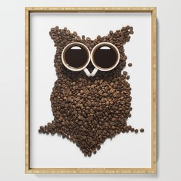 Coffee Owl Serving Tray