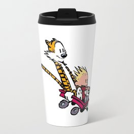 calvin and hobbes speed Travel Mug