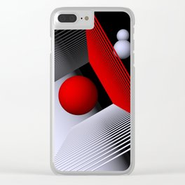 3D-geometry -1- Clear iPhone Case