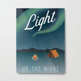 Light Up the Night Adventure Poster Metal Print
