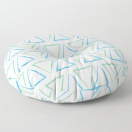 Peaks - Teal & Blue #977 Floor Pillow