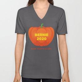 Bernie 2020 Now That's Scary Republican Halloween design Unisex V-Neck