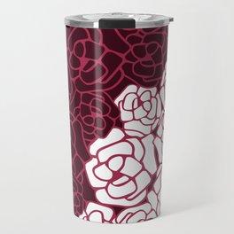 Pink Garden - pop art fuchsia flowers Travel Mug