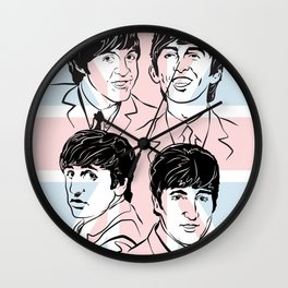 Face The Fab Four 2 Wall Clock