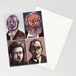 Marx Engels Gramsci Lukacs Stationery Cards
