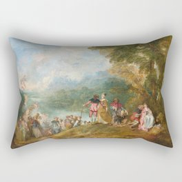 The Embarkation for Cythera, Jean Antoine Watteau, 1684 Rectangular Pillow