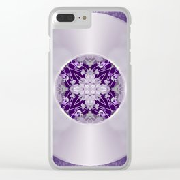 Vinyl Record Illusion in Purple Clear iPhone Case