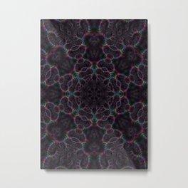 Branching Rainbow Fractal Kaleidoscope 2 Metal Print
