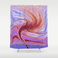 spiritual Shower Curtains featuring  Spiritual Whirling by Irfan Gillani