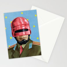 Pink Robocop Stationery Cards