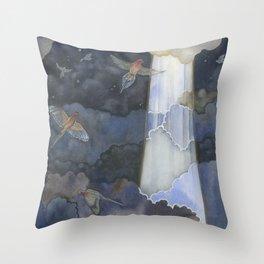 Birds Ascending Throw Pillow