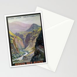 Paris-Lyon vintage travel poster Stationery Cards