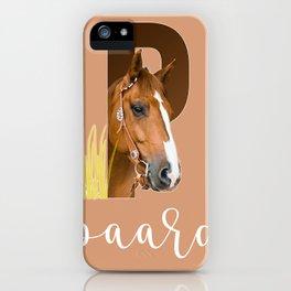 Paard - dierenalfabet iPhone Case