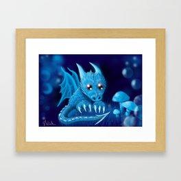 Blue Bubble Bop Framed Art Print