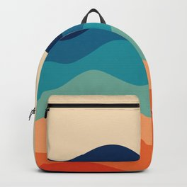 Retro 70s Waves Backpack