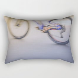 Mountain biker riding a mountain bike Rectangular Pillow