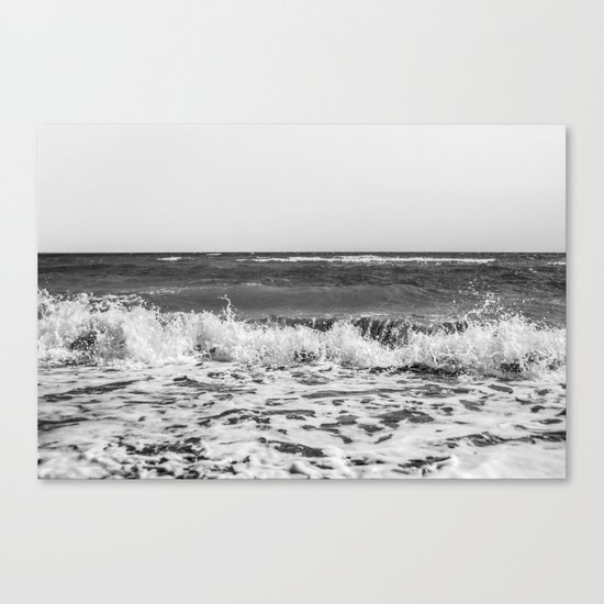 BEACH DAYS XXI BW Canvas Print