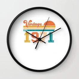 50 Geburtstag im April 1971  Wall Clock