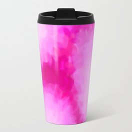 Glowing Pink Floral Abstract Travel Mug