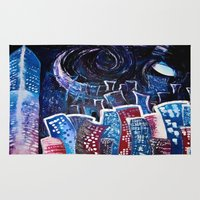 starry night Area & Throw Rugs featuring Todays' 'Starry Starry Night' by Cassandra Evelyn