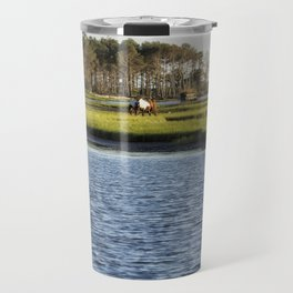 Chincoteague Ponies on Assateague Island Travel Mug