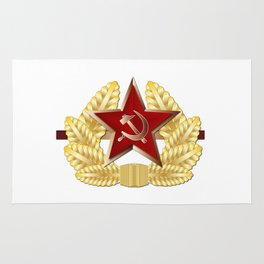Soviet Cap Badge Rug
