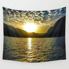 Sunset view in Muscat Oman Wall Tapestry