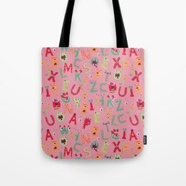 Whacky Monsters Tote Bag