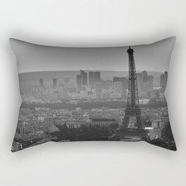 Black &White Paris From Above Rectangular Pillow