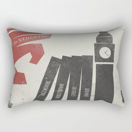 V Vendetta, alternative movie poster, graphic novel, Alan Moore, Natalie Portman, Guy Fawkes, S. Fry Rectangular Pillow