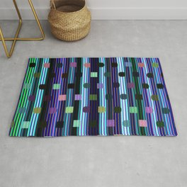 Colorful digital vertical stripes Rug