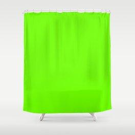 Bright Fluorescent Green Neon Shower Curtain