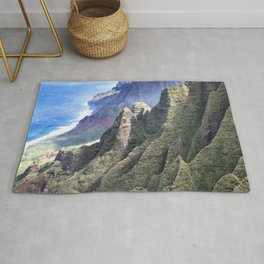 Hawaii's BREATHTAKING Na Pali Coastal Cliffs Rug