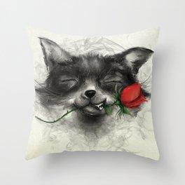 Valentine's Fox Throw Pillow
