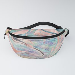 Pastel Rose Gold Mermaid Marble Fanny Pack