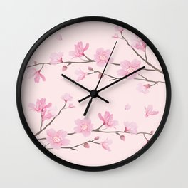 Cherry Blossom - Pink Wall Clock